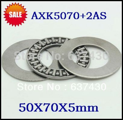 50 sets AXK5070 2AS 5070 thrust needle roller bearing with washer 50X70X5mm thrust bearing plain bearing