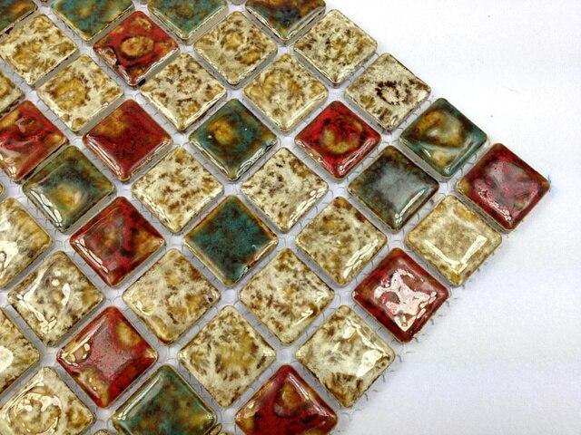 Badkamer Tegels Kiezel : Vierkante keramische kiezel mozaïek tegel keuken backsplash tegel