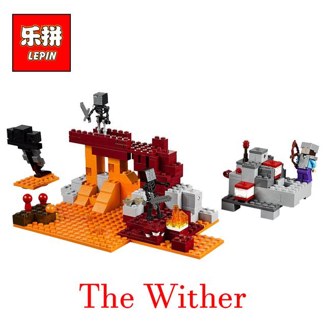 Lepin mi mundo minecraft figura enlighten building blocks juguetes de los ladrillos de la marchita niños regalos de navidad