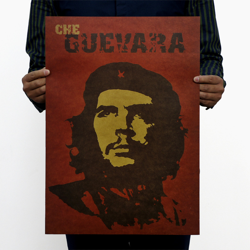 NPH-052 Retro poster vintage Kraft paper 51x35 cm Famous people  CHE Guevara painting wall art craft for living room bar