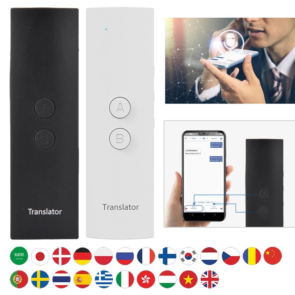 US $25 99 10% OFF|T6 Easy Trans Smart Language Translator Instant Voice  Speech BT 28 Languages+APP Hot Translator traductor de voz simultaneo-in