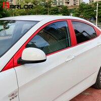 Película de Proteção Auto Guarnições Moldura Da Janela Coluna ABC Fibra De Carbono Adesivo Decalque Car Styling Para Acessórios Hyundai Solaris Verna car styling decals car film sticker -