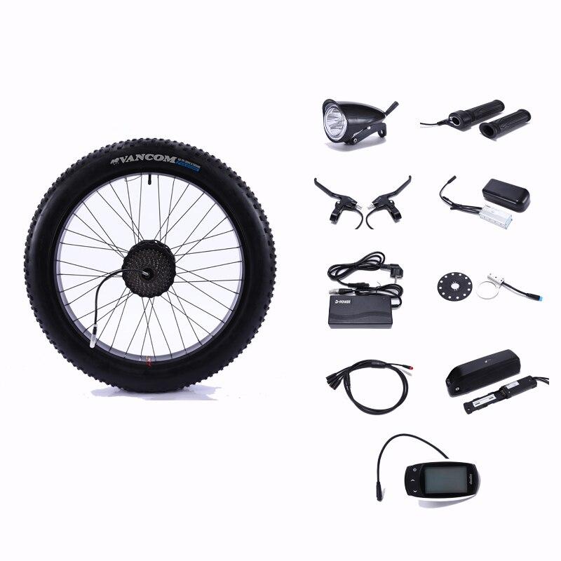 48V500Wmotor roue vélo électrique roues électriques pour kit de vélo roue électrique moteur roue ensemble pour moteur de vélo électrique