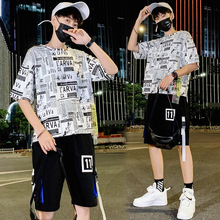 2019 Summer Set Men Causal Letter printing Short Sleeve T-shirt+Shorts Fashion M-3XL Tracksuit Mens Track Suit Two Pieces set