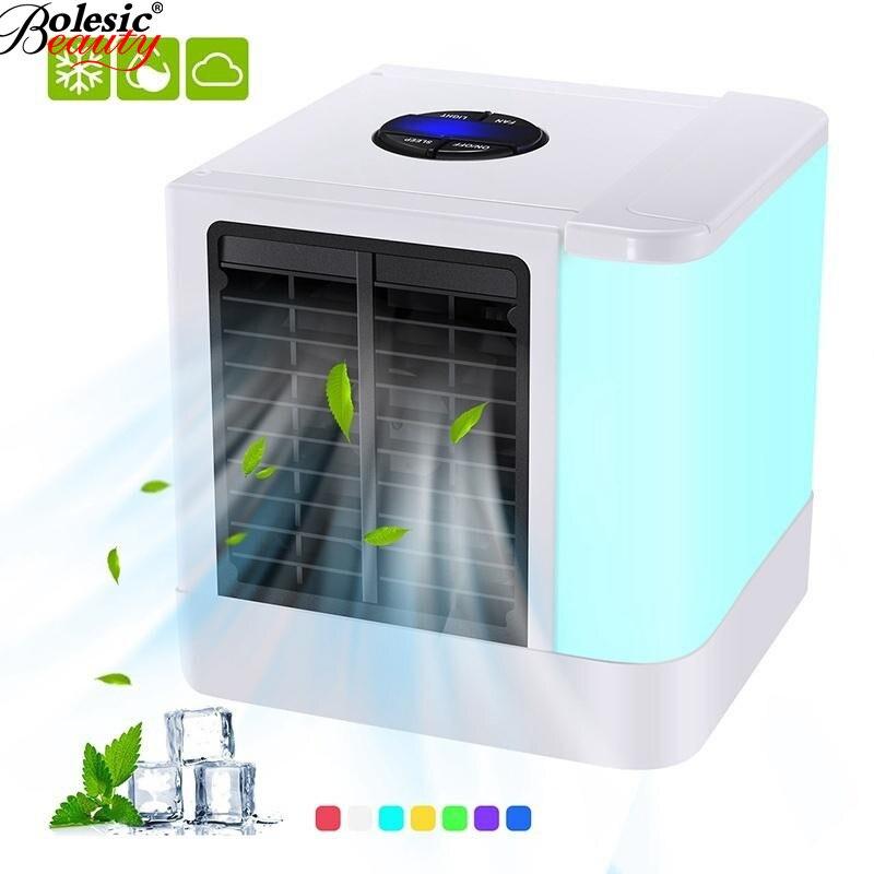 Neue USB Mini Tragbare Klimaanlage Befeuchter-reinigungsapparat 7 Farben Licht Desktop Luft Lüfter Luftkühler Fan für Büro hause