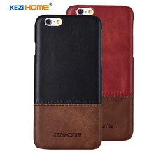 Case for Iphone 6 / 6s KEZiHOME Luxury Hit Color Genuine Leather Hard Back Cover capa For iphone 6 Plus / 6s Plus Phone cases