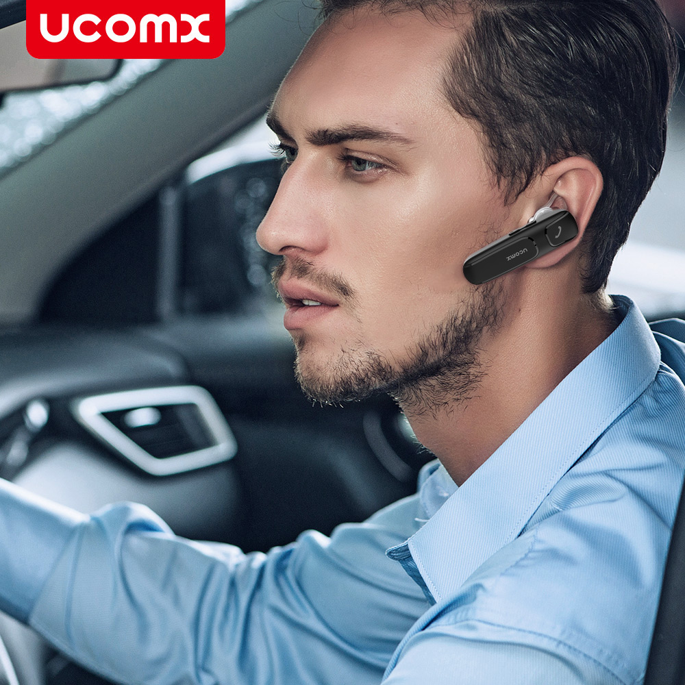 UCOMX U35 Bluetooth Earphone Business Wireless Headset Hands-free Earbud with Mic Earpiece Headphone for iPhone 8 7 Mobile Phone leadtry bluetooth headphone portable bluetooth headset sport earphone with mic pedometer earbud case for phone pc tv