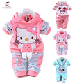 Baby Boy Girl Clothes Set Cartoon Rabbit Casual Kid Suit 2pcs Long Sleeve Hooded Coat Pant Infant Girl Boy Children Clothing Set