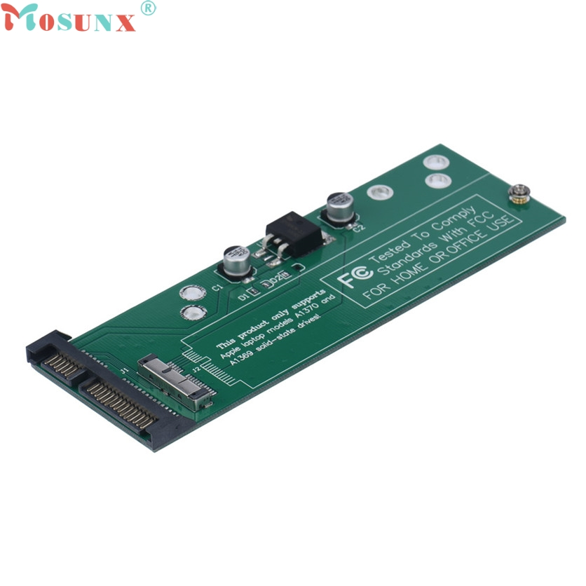 Mosunx Factory Price Card Adapter For 2011 MAC AIR A1369 A1370 A1377 SSD To Sata3 22pin 7Pin 60321 factory price mosunx 2 in 1 mini pci e 2 lane m 2 and msata ssd to sata iii 7 15 pin adapter drop shipping drop shipping