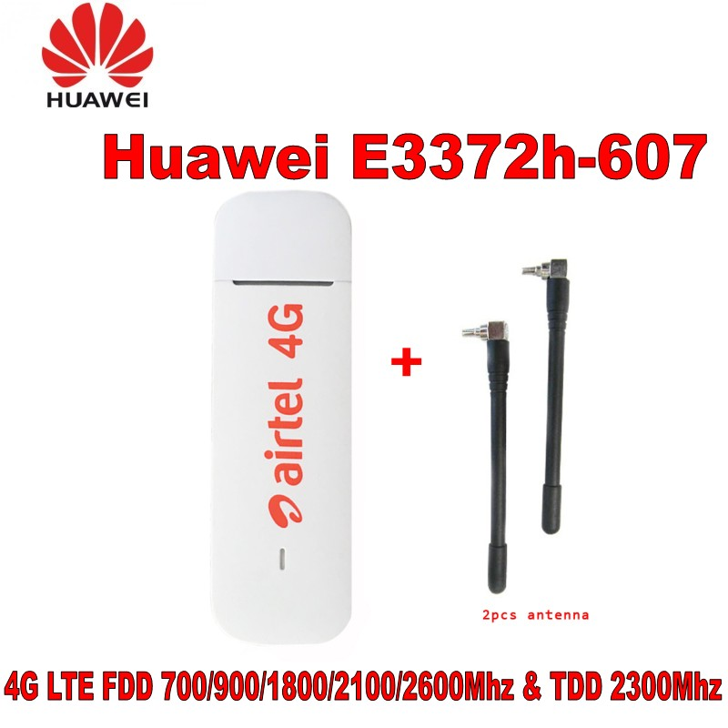 Lot of 10pcs Unlocked New Arrival Huawei E3372 E3372h 607 with antenna USB 4G LTE 150Mbps