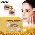 10 par 24 K oro máscaras de ojo de cristal colágeno máscara de ojos Anti-envejecimiento parches para ojo máscara quitar oscuro círculos líneas Gel parche en el ojo