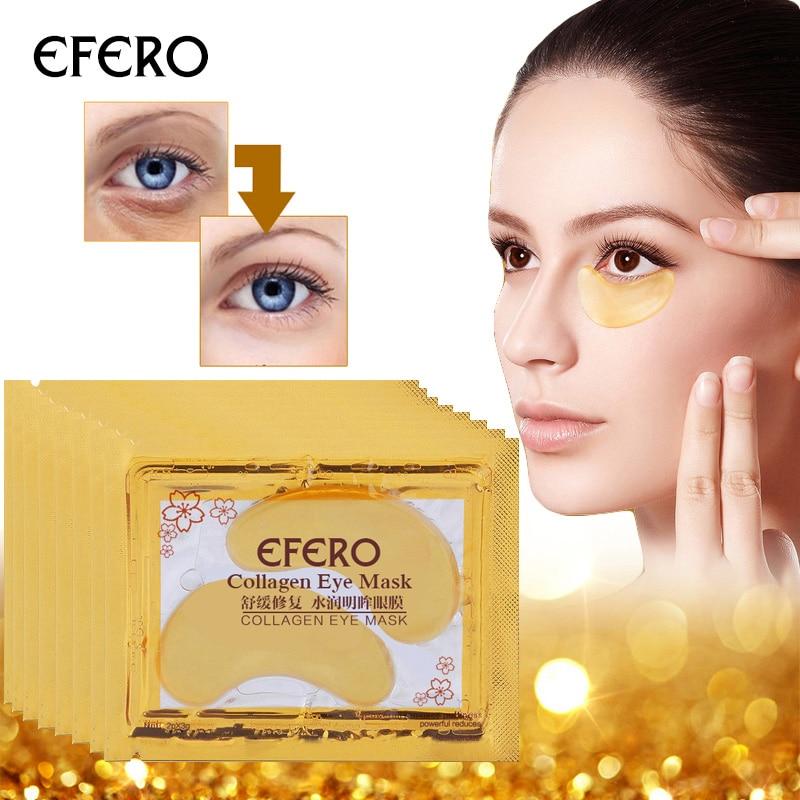 10 pares de beleza ouro cristal Collagen Eye Mask Patch tapa olhos cuidados com os olhos Anti envelhecimento elimina olheiras e linhas finas