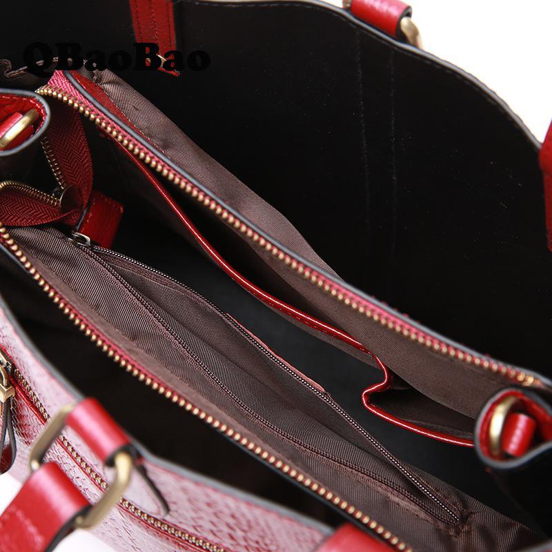 Marque Mode En Qualité Chaude red Femmes Femelle Dame Main De Nouveau À Véritable Haute Black Designer Sac grey Cuir Vente qvZIO