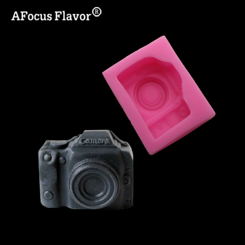 1 Pc Silicone Molds Fondant Cameras Soap Kitchen Baking Cake Dessert Pastry Decoration Molding Chocolate Ice Cake Stand