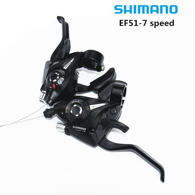 SHIMANO EF-51 Bike Bicycle Shifter/Brake Lever Combo 3 x 7speed Shifter (3 x 7 Speed/8 Speed )