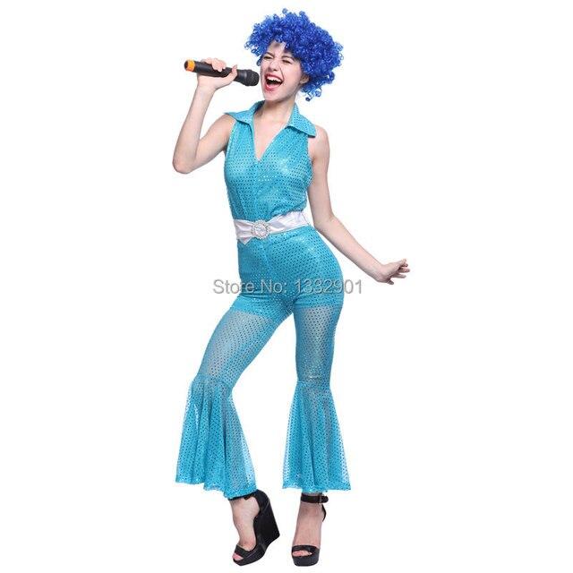 17 3 Para Mujer De Las Mujeres 70 S 80 S Discoteca Disfraz De Pop Abba Trajes De Disfraces Vestido De Partido De Baile En Disfraces De Anime De