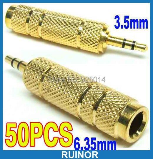 ФОТО 50PCS Male 35mm to 635mm 1 4 Stere jack PLUG FOR DJ Headphone Power Amplifier