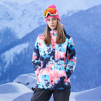 GSOU SNOW Ski Jacket Women's Skiing Suit Winter Waterproof windproof Ski Suit Outdoor Camping Female Snowboard Clothing coat