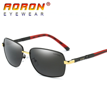 2017 AORON Brand Original Men Polarized Sunglasses Driving Pilot Mirror Sun Glasses oculos de sol Eyewear Accessories 8726
