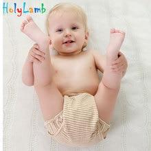 1pcs / lot Baby Infant Organic Colorful 100% Bomull Vattentät Återanvändbar Nappy Diaper Training Pants Boy Girl Underkläder Tvättbar