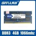 BINFUL новый Бренд Опечатаны DDR3 4 ГБ 1066 МГц PC3-8500 SODIMM Памяти Ram memoria ram Для Ноутбука Ноутбук Пожизненная Гарантия