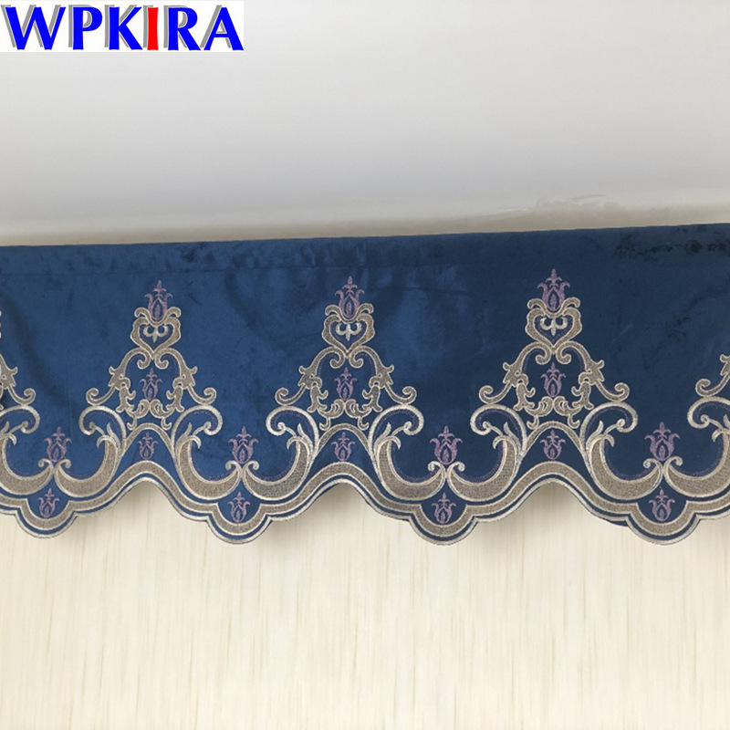 Valance Drapes Royal Luxury Valance Curtains for Living Room Window Curtains for Bedroom Valance Curtain for Kitchen 30