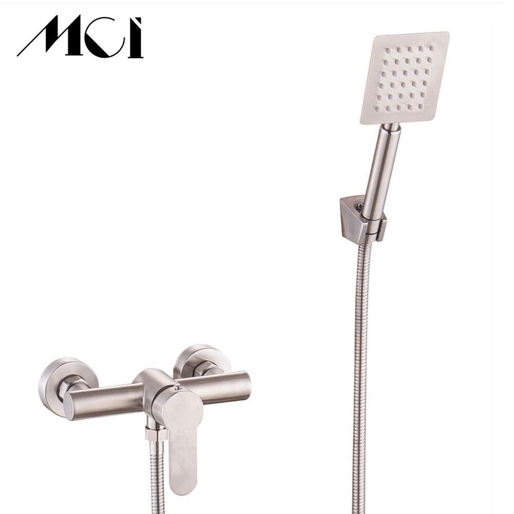 Qualität Edelstahl Bad Dusche Armaturen set Mixer Dusche Badewanne Wasserhähne Regendusche wand Torneira Tap Dusche Mci
