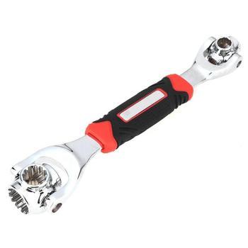 Toma de herramientas multiusos Llave de tigre 48 en 1 funciona con pernos de espiral Torx 360 grados muebles de 6 puntos herramientas manuales de reparación de automóviles