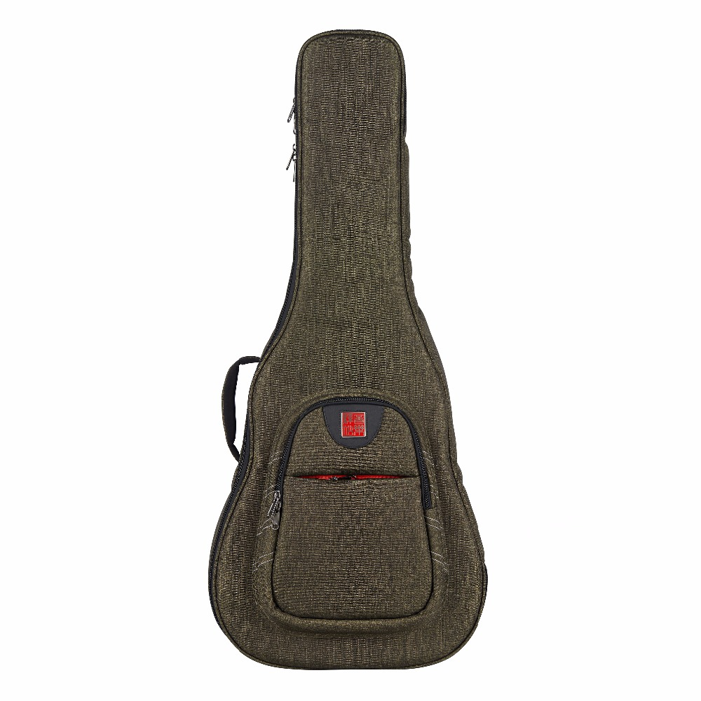 Music Area Classical Guitar Gig Bag 30mm Cushion Waterproof 900D Polyester Dark Green Soft Guitar Case WIND20 AC 12mm waterproof soprano concert ukulele bag case backpack 23 24 26 inch ukelele beige mini guitar accessories gig pu leather