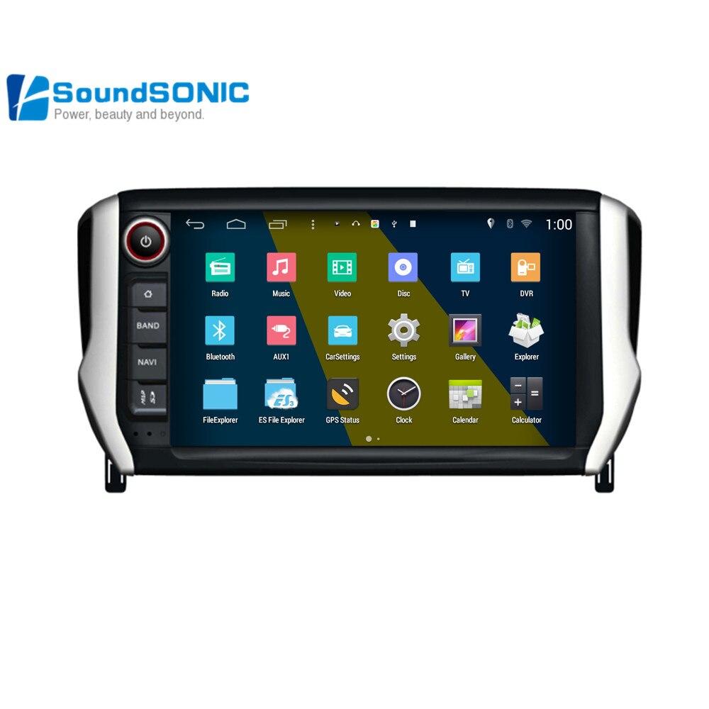 for peugeot 208 2008 android 4 4 4 car radio stereo dvd gps navigation multimedia audio video. Black Bedroom Furniture Sets. Home Design Ideas