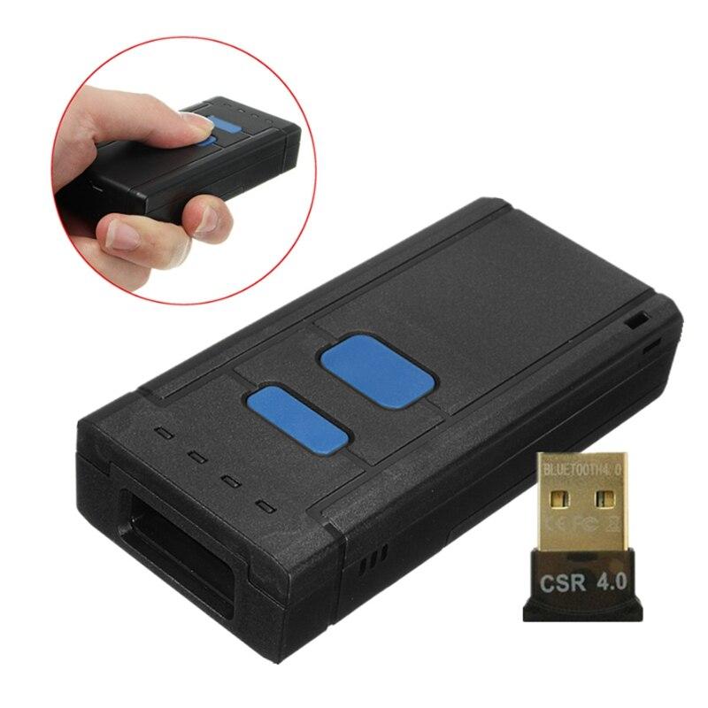 נייד אלחוטי 4.0 Bluetooth סורק ברקוד CCD Handhled 630nm מיני בר קוד קורא סורק עבור IOS אנדרואיד טבליות לנצח מחשב