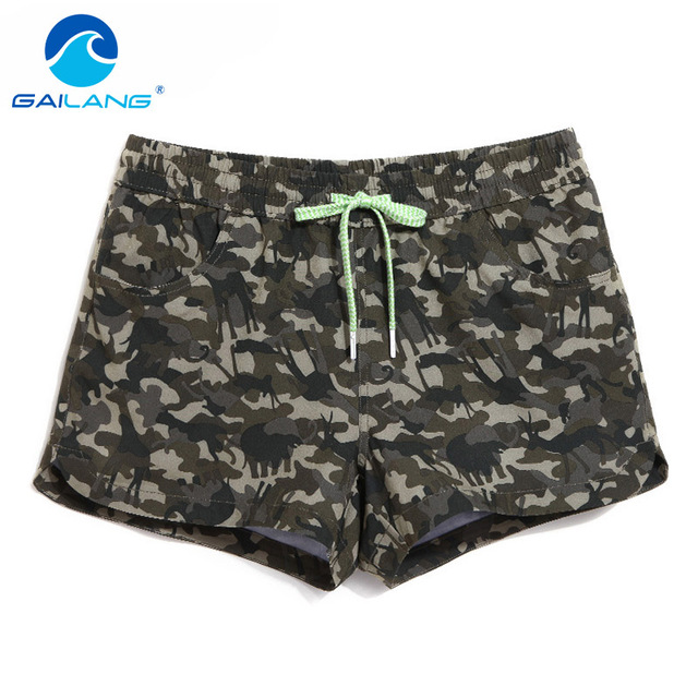 Gailang Brand Woman Leisure Shorts Board Boxer Trunks Shorts Casual Short Bottom Lady Summer Boxers Quick Drying Boardshorts