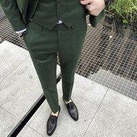 White Green Gray Mens Dress Pants Slim Design Cotton Pant Men Business Casual trousers Asia size S M L XL XXL XXXL