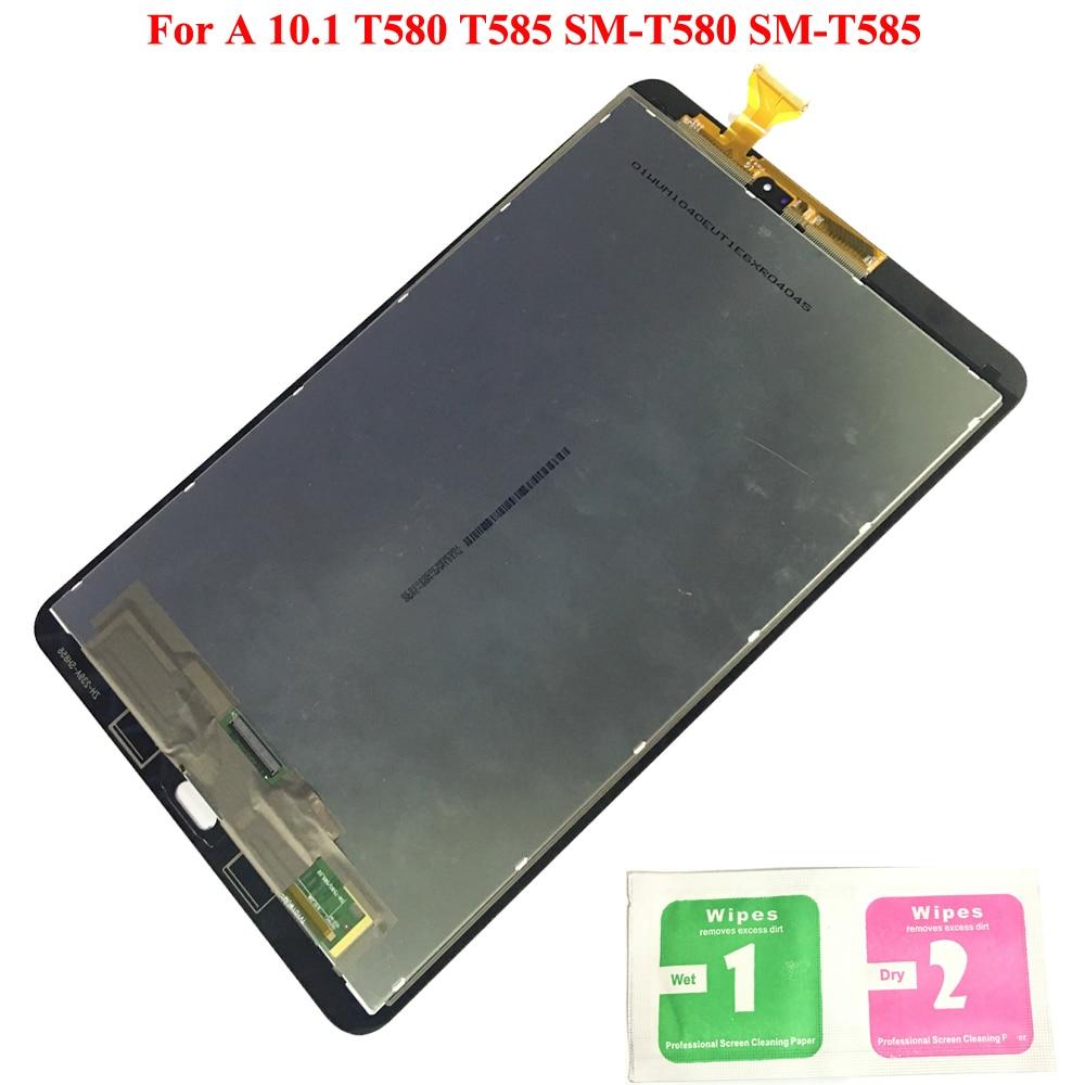 Écran LCD pour Samsung GALAXY Tab A 10.1 T580 T585 SM-T580 SM-T585 écran tactile numériseur panneau d'assemblage remplacement T580 LCD