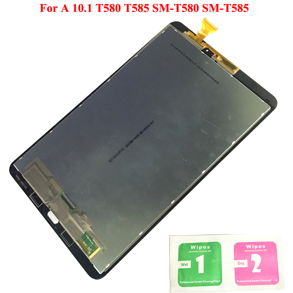 LCD Display For Samsung GALAXY Tab A 10.1 T580 T585 SM-T580 SM-T585 Touch Screen Digitizer Assembly Panel Replacement T580 LCDLCD Display For Samsung GALAXY Tab A 10.1 T580 T585 SM-T580 SM-T585 Touch Screen Digitizer Assembly Panel Replacement T580 LCD
