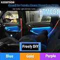 KTM001 Car Atmosphere Lamp Specail for Porsche Macan Flexible Flash Light Colorful car Atmosphere Ligh Bottom Controller