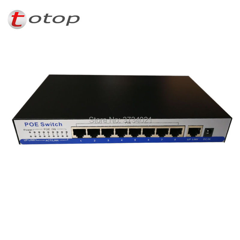 9-Port Gigabit Desktop Switch with 8-Port PoE network unmanaged switch-POE SWITCH ...