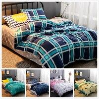 Creative Plaid Duvet Cover Duvet Cover 4pcs Bedding Set Adult Couple Double Size Bed Linens Queen King Big Quilt Comforter Case