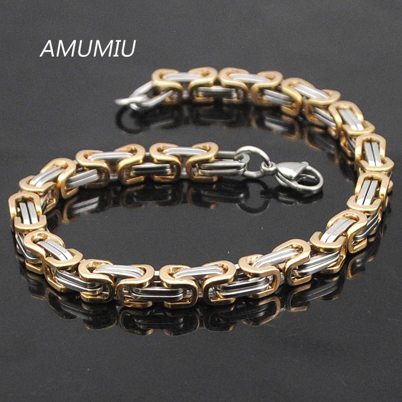 Προώθηση AMUMIU! Ανδρικά βραχιόλια χρυσό - Κοσμήματα μόδας - Φωτογραφία 5