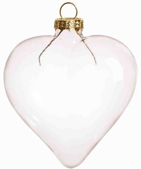 Free Shipping DIY Paintable Transparent Clear Christmas Ornament Decoration  80*70mm Heart Shape Glass With Gold Cap, 100/Pack - Free Shipping DIY Paintable Transparent Clear Christmas Ornament