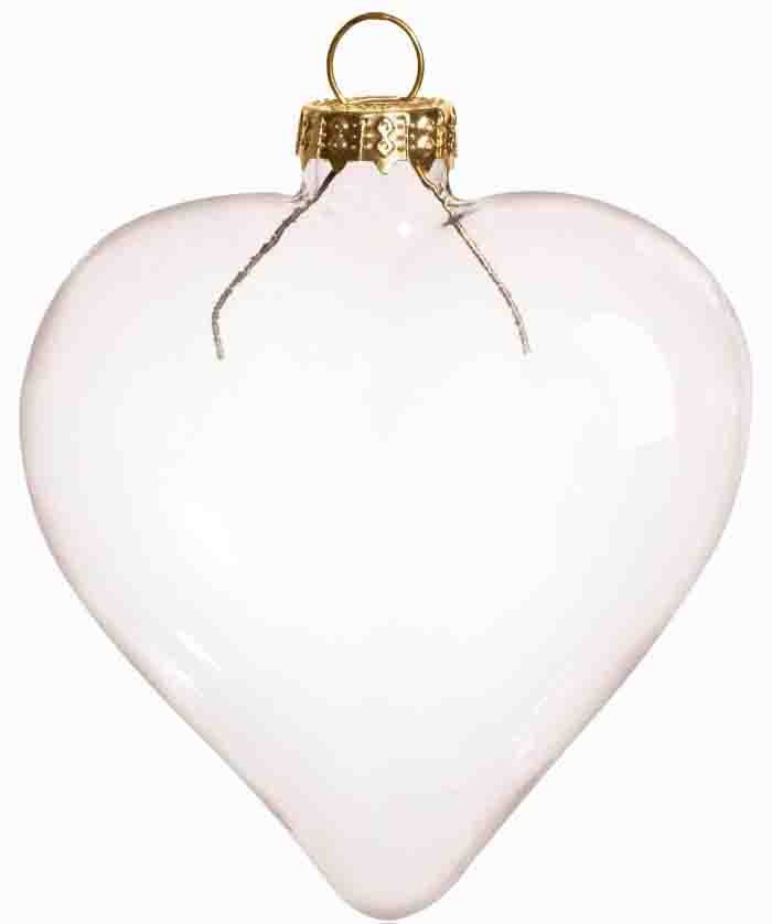 Christmas Ornament Shapes Part - 38: Free Shipping DIY Paintable Transparent Clear Christmas Ornament Decoration  80*70mm Heart Shape Glass With