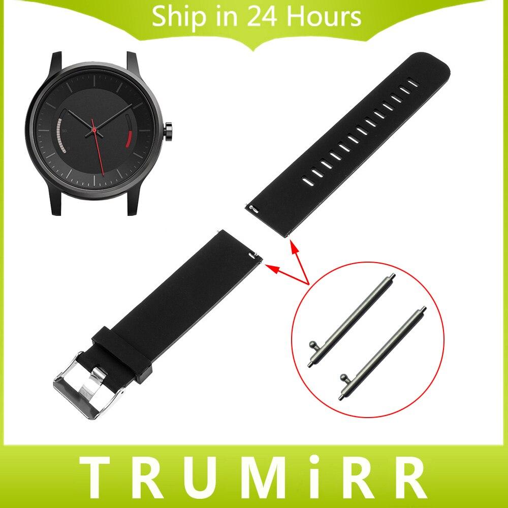 20mm en caoutchouc de silicone bracelet avec goupilles de dégagement rapide pour garmin vivomove smart watch bracelet bande de résine de sport bracelet