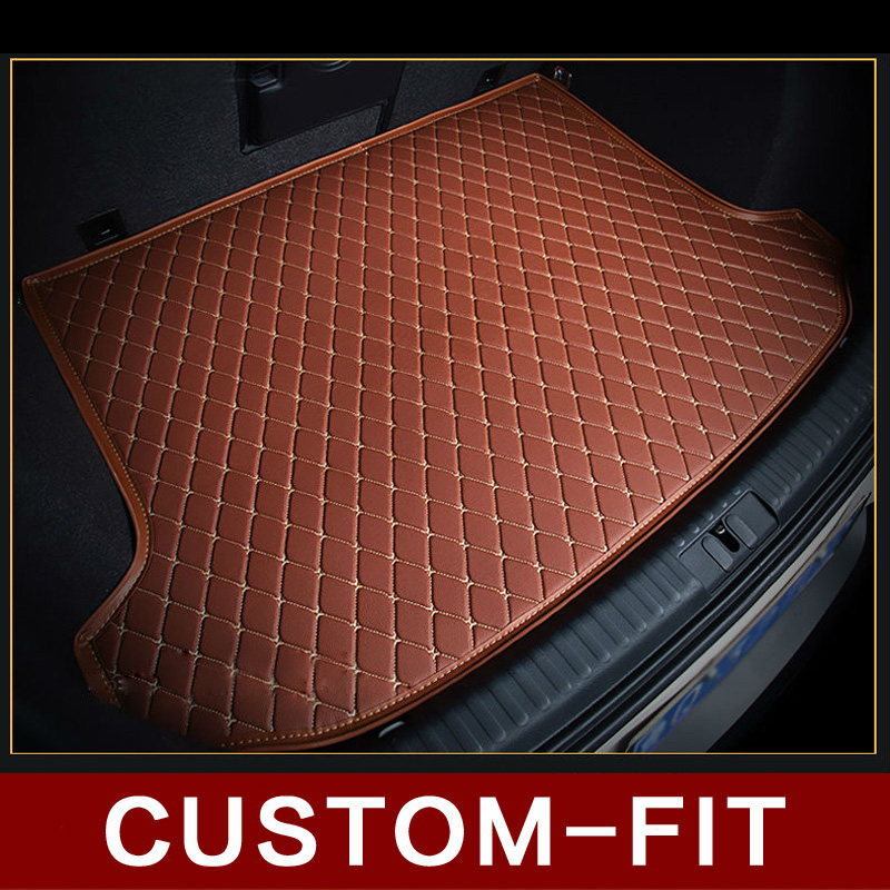 Custom fit car trunk mat for HYUNDAI ACCEN ATOS ELANTRA ECEL  GETS GALLOPER  LANTRA SOLARIS car styling tray carpet cargo liner free shipping leather car floor mat carpet rug for hyundai elantra avante i35 fifth generation 2011 2015