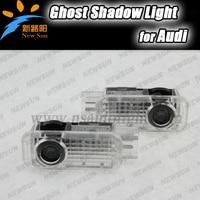 2 Pcs LED luzes do logotipo projetor carro Fantasma sombra luz Porta Bem-vindo Luz Para Audi A1 A3 A4 A5 A6 A4L A6L A8 Q5 Q7 R8 TT A6L
