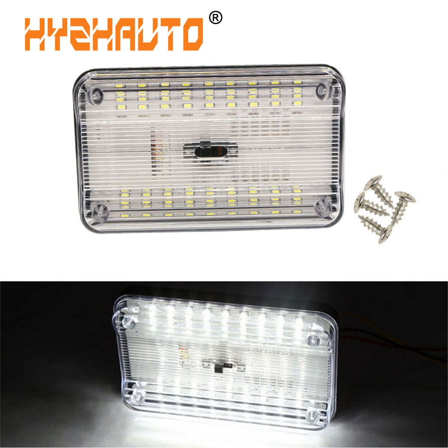 HYZHAUTO Universal 12V <font><b>36</b></font> LED Car Interior lights Roof Ceiling Trunk Dome Reading Lamp White automobile night Light 6000K image