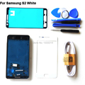 For Samsung Galaxy S2 i9100 Original Black Complete Full Housing Cover Middle Bezel Glass Lens Adhesive Tools USB Cable White