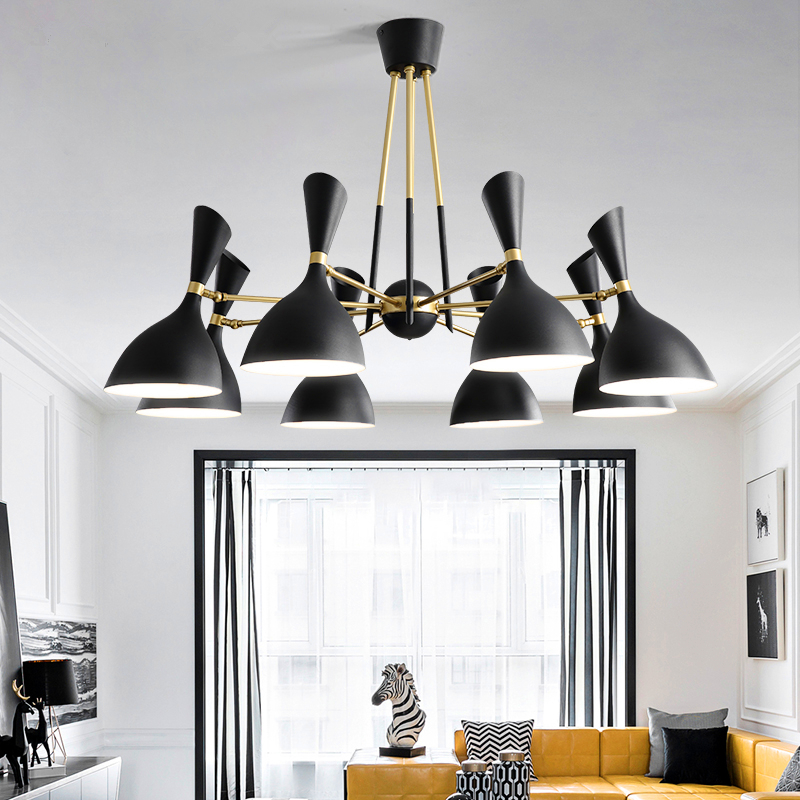 Nordic post-modern hanging lights creative Fixtures Novelty living room chandelier bedroom restaurant LED chandeliers nordic retro fixtures post modern chandelier living room hanging lights restaurant lamps bar lighting cafe chandeliers