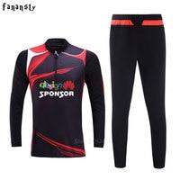 Survetement Football Training Suit Adult Soccer Tracksuit Men Set Long Sleeve Customize Uniforms Sport Kits 2017