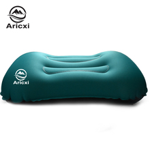 Aricxi Outdoor camping Travel Aeros Pillow Inflatable Cushion Soft Neck Protective HeadRest air pillow  Inflatable Pillow