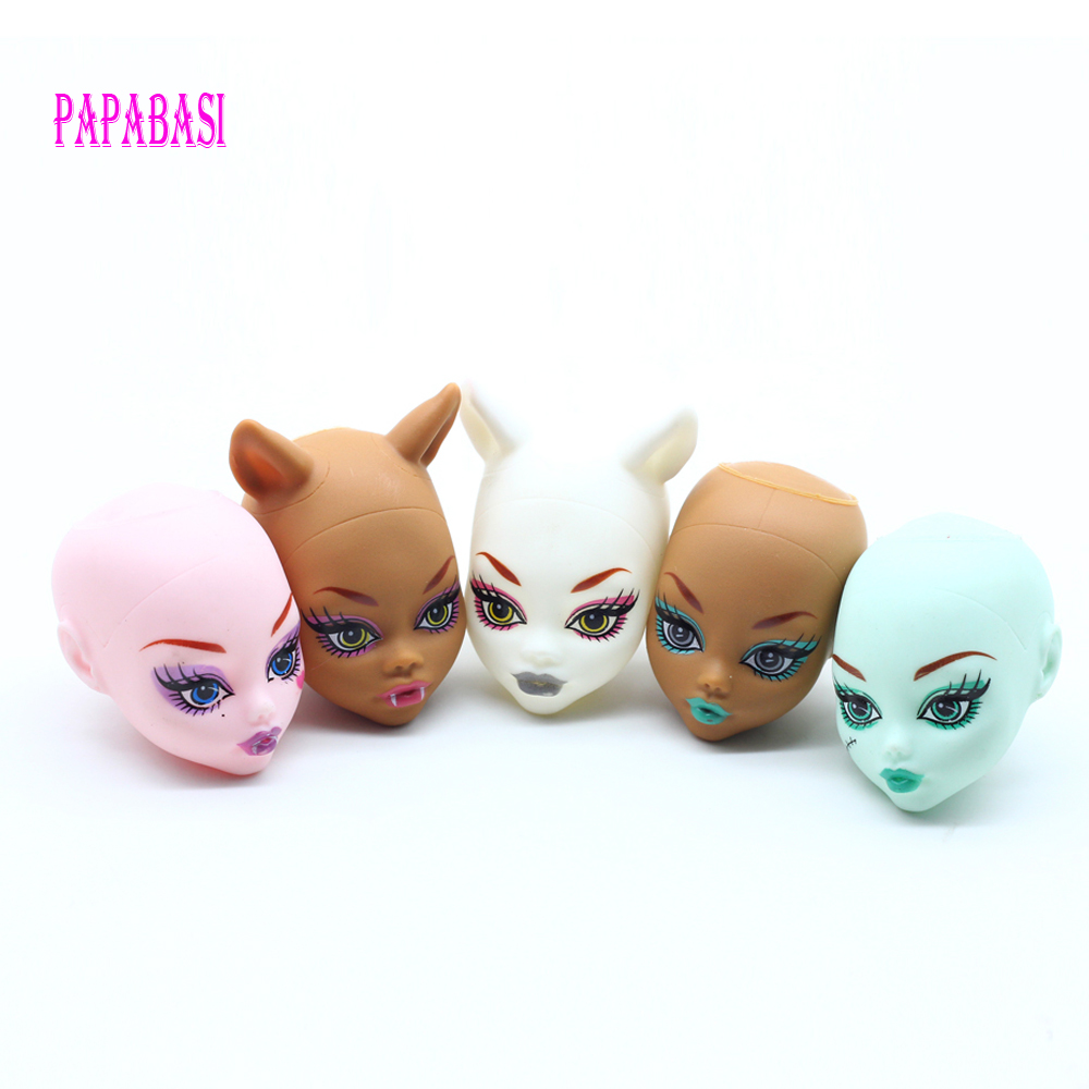 Soft Plastic Practice Makeup Doll Heads For Monster Doll BJD Doll's Practicing Makeup Monster Head Without Hair